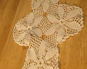 Cross Shaped Doilies - Set of 2