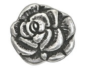6 Nambe Rose 3/4 inch ( 18 mm ) Metal Buttons