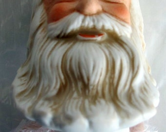 "Mangelsen's 76MM (3"") Porcelain Santa Head & Hands 16229"