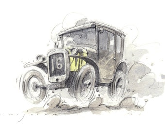 AUSTIN 7 Limited Edition Print