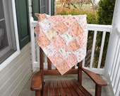 Baby Rag Quilt- Ready to ship Rag Quilt, pink rag quilt, peach rag quilt, baby shower gift, baby girl rag quilt, one of a kind rag quilt