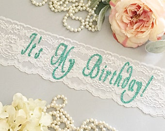 Lace Birthday Sash - Lace Sash - ***Design Your Own Sash***