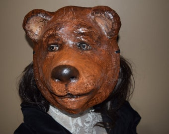 Bear mask, Animal head mask, Masquerade Men, Halloween costumes, Halloween msk, Masque