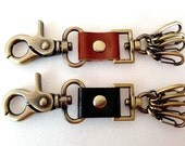 Durable & Strong Leather keychain / key holder / key fob