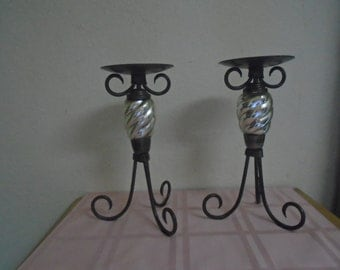 Vintage Pair of Art Deco Candle Holders / Excellent Condition!