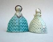 Ceramic Sculpture, Two Girls , Sisters , Best Friends , Ceramic Figurines