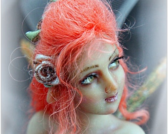 OOAK Art Doll ELF Miniature Sculpture Fairy female figure