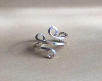 Silver flat wire ear cuff non piercing