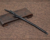 OriginalFire Ebony Wood Hair Stick / Hair Pin / Hair Fork - Deer's Horn