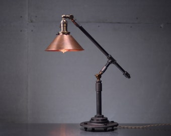 Copper Table Lamp - Edison Table Lamp  - Industrial Table Lamp - Iron Pipe Lamp - Industrial Furniture