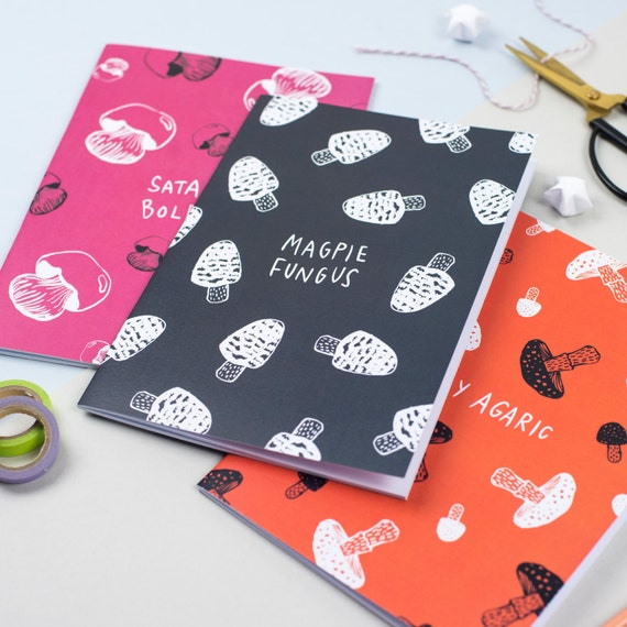 Poisonous Mushrooms Edition A5 Doodlebooks 3 Pack