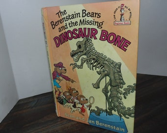 Vintage 1980 Berenstain bears book Missing Dinosaur Bone hardcover
