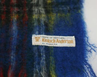 vintage mohair scarf by kinloch anderson made in scotland