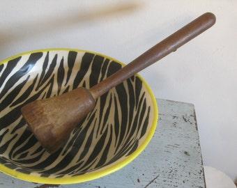 Primitive Potato Masher , 1800's Kitchen Utensils , Antique Kitchen Tool