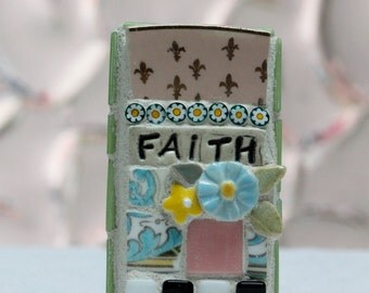 FAITH  mosaic wall art, gift