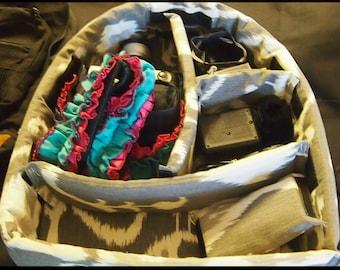 DSLR Camera Backpack Insert \ Removable Dividers \ Ready to Ship \ SLR camera Backpack Insert \ Camera bags \ Camera case \