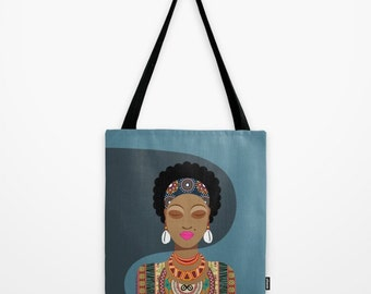 African Bag, African Woman, African Queen, Afro Girl, Afrocentric, African Gift, Blue