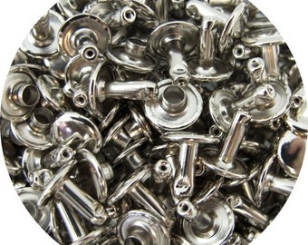 Nickel Plated Small Double Capped Rivets - 50 Pack #407-127104