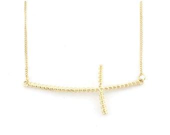 Simple Cross Pendant Short Chain Necklace