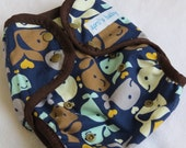 One size cloth diaper cover - Whale Love