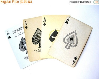 July Sale 10 Random Ace of Spades Cards - Playing Cards - Aces - Swap Cards