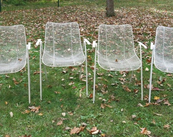 Four Woodard Sculptura Arm Chairs Dining Chairs