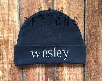 Personalized beanie/Monogramed Baby Hat/ Monogrammed newborn hat/ Personalized newborn baby hats/ Personalized baby beanie/ Baby beanie hats