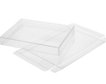 5 Clear Soft Fold Boxes, Each Holds Up To 75 Size 8x10 photos,  8 1/8 x 5/8 x 10 1/8