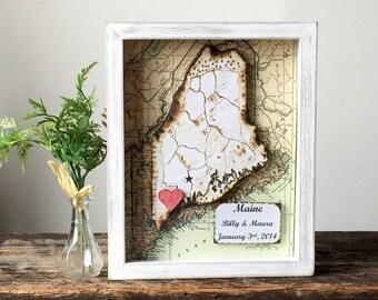 Anniversary - Custom Map - Wedding Gift -