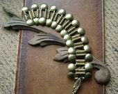 Etruscan Dreams, ancient style bracelet, vintage clasp, unique brass link bracelet, ancient style jewelry, Etruscan bracelet, AnvilArtifacts