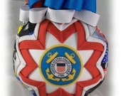 Quilted Ornament US Coast Guard FormaI Handmade Keepsake Ornament