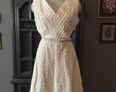 Reserved IBoop 50s Chenille Dress in Winter White