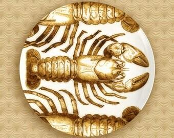 1 or 3 crustacean melamine plate