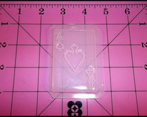 Ace Spades Card Flexible Plastic Resin Mold 1/8 In. Thick 3 In. X 1 3/4 In.