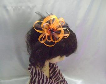 Chocolate Orange Headband Fascinator