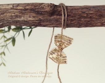 Gold Bow Tieback, Newborn Infant Baby Child Tieback Headband Ready to Ship Christmas Photography Prop. UK SELLER