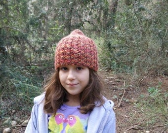 Gnome beanie, winter warm crochet hat for girls. Made for order