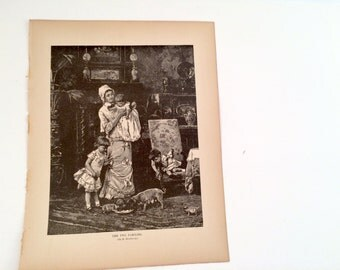 Copperplate Engraving Print - Victorian Era