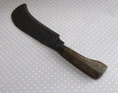 Large Vintage Harvest Knife, Garden Knife, Harvesting Wood Handle Tool English Tools Ltd 1970 BR10