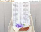 On Sale Salvaged Wood Bi-Fold Shutters, Cottage Style, Farmhouse Wedding, Home Renovations, Restoration Window Treatments