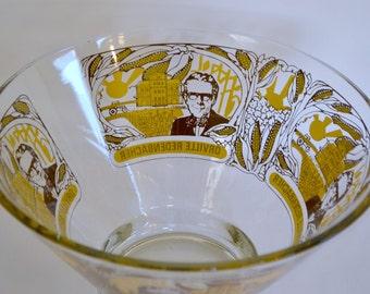 Orville Redenbacher Blendo Shaped Vintage Promotional Advertising Large Glass Popcorn Bowl