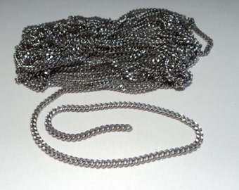 10 feet -  Stainless steel filed curb style Chain - m59