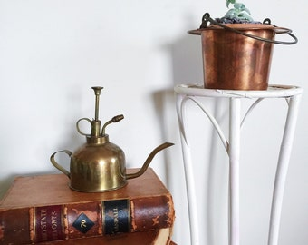 Unique Vintage Brass Atomizer and Watering Can Combo for Gardening Home Decor or Prop Display