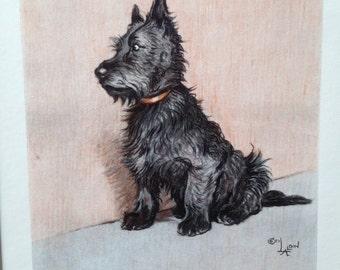 SCOTTISH SCOTTIE TERRIER Dog Signed mounted 1928 Cecil Aldin terrier dog plate print Christmas gift Thanksgiving birthday present