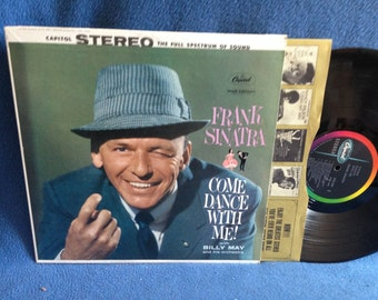 "Vintage, Frank Sinatra - ""Come Dance With Me"", Vinyl LP, Record Album, Original 1959 Press, Classics, Rat Pack, Cheek To Cheek, Billy May"