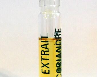 Vintage 1980s Coriandre by Jean Couturier Parfum Extrait Sample Vial PERFUME