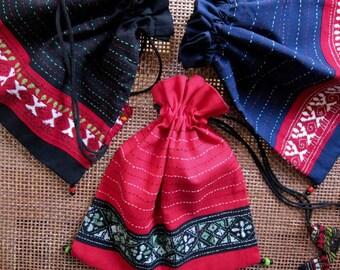 Kantha Potlis - Drawstring Bags