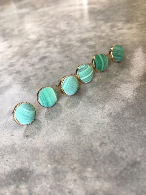 Malachite earrings, green, boho jewelry, natural stone earrings, aunt gift, Black Friday Sale
