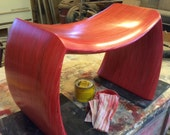 red custom bench build for Paige /Final Payment