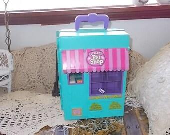 Littest Pet Shop, Vintage Kenner Littlest Pet Shop Carrying Case Playset 1992, Kenner Pet Shop Toys, Vintage Toys, Kenner Toys /:)s